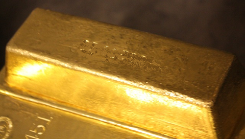 Lingot d'or en coffre