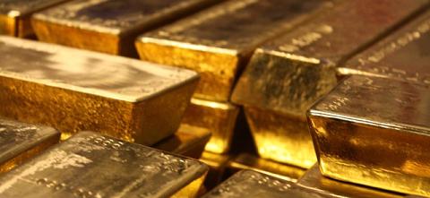 Barre d'or dans le coffre, lingot d'or, BullionVault