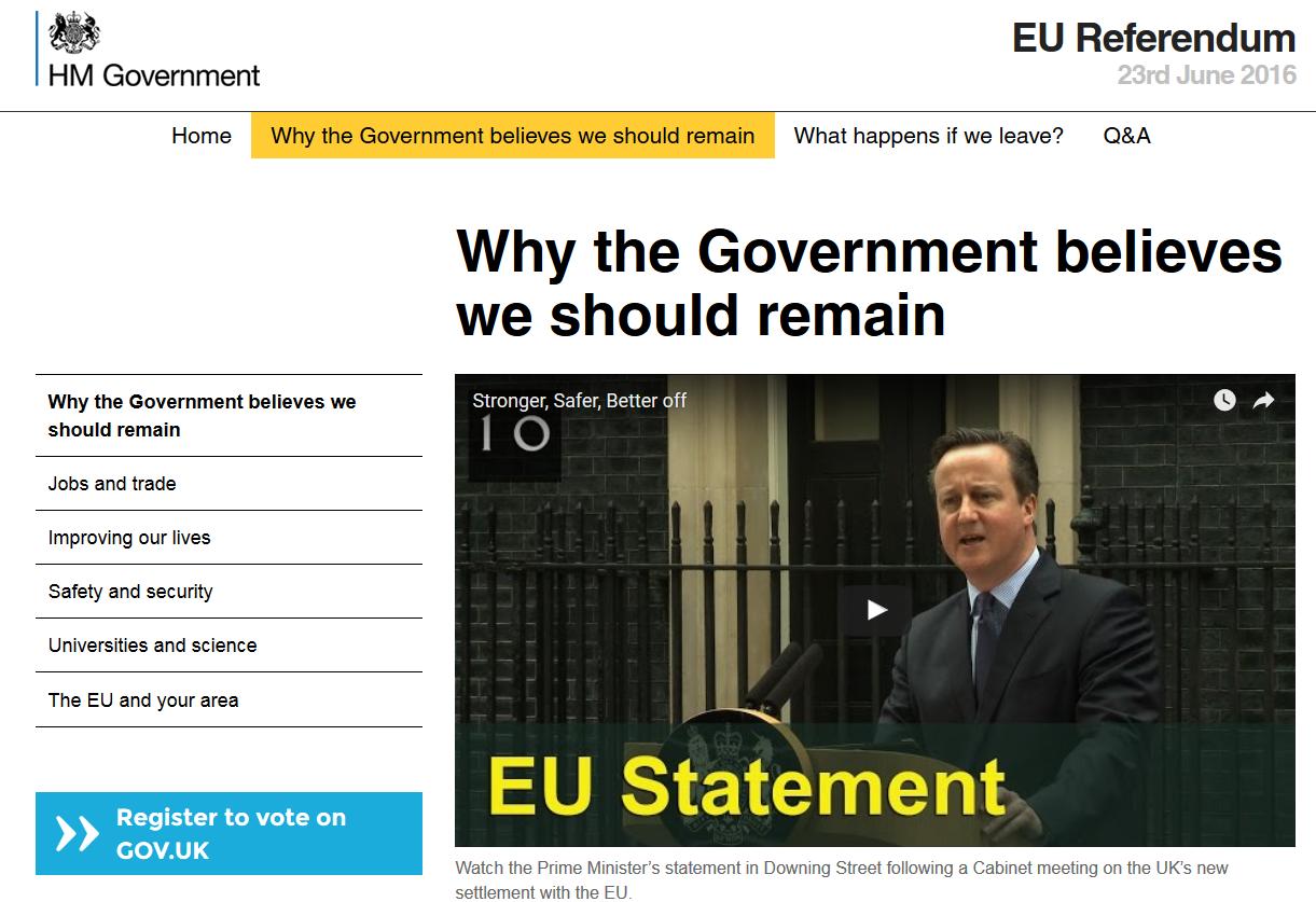 Brexit, gouvernement britannique