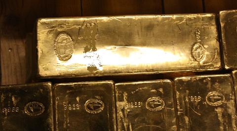 Lingots d'or dans le coffre, Londres, BullionVault