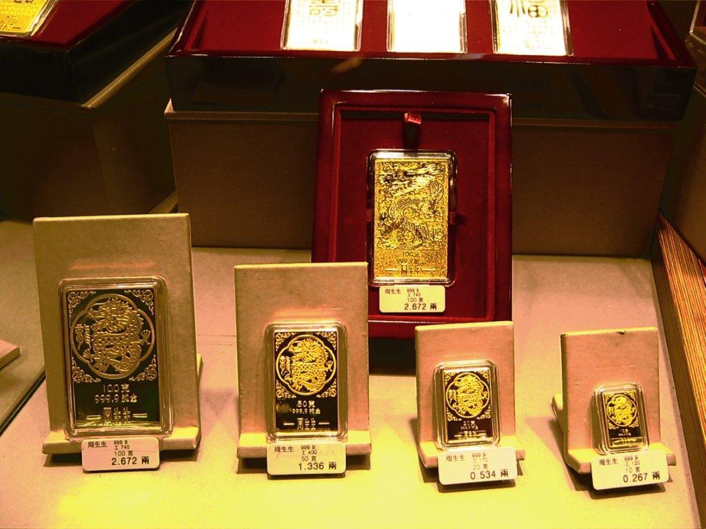 L'or dans les boutiques de Hong Kong et Macau, photo par Thomas Podvin (2012)