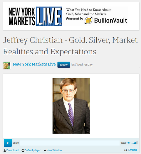 Jeffrey Chrisitan de CPM dans New York Markets Live
