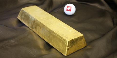 Lingot d'or professionnel dans le coffre de Zurich