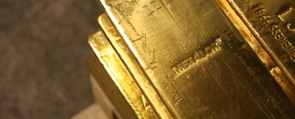Lingot d'or en coffre, Suisse, BullionVault