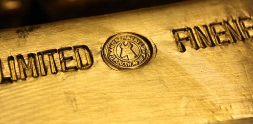 Barre d'or avec sceau