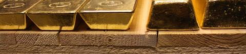 Lingots d'or dans le coffre