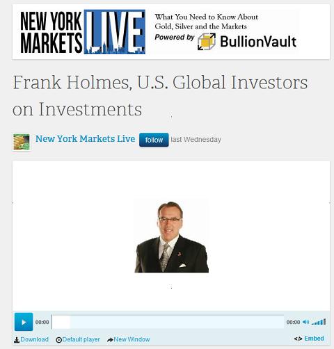 Frank Holmes dans New York Markets Live